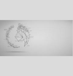 big data visualization abstract earth globe vector image