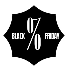 Black Friday sale sticker icon simple style vector