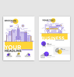 Brochure design template - business vector