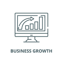 business growth line icon linear concept vector image