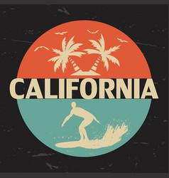 California circle print vector