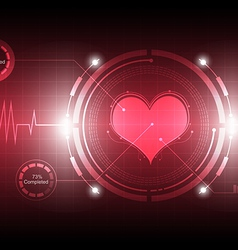 Cardiograph technology vector