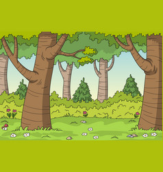 cartoon forest landscape vector image