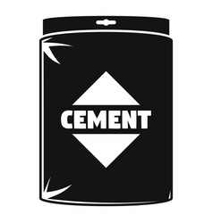 Cement bag icon simple style vector