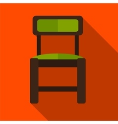 Chair flat icon vector