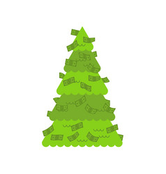 christmas tree financial dollars decoration vector image