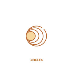Circles concept 2 colored icon simple line vector