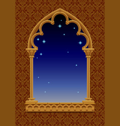 classic frame in form of gothic decorative window vector image