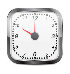 clock square shape instrument of time indication vector image