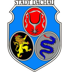 Coat of arms of dachau is a town in upper bavaria vector