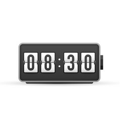 Countdown wall flap clock number counter template vector