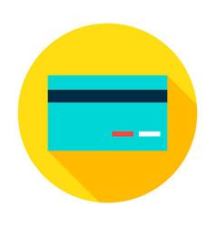 Credit card circle icon vector