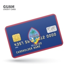 Credit card with Guam flag background for bank vector