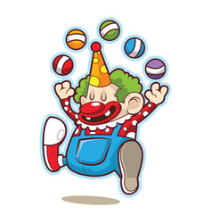 cute fun circus clown vector image