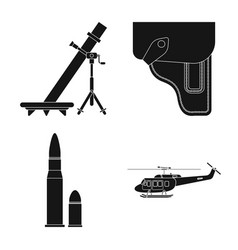 Design weapon and gun symbol collection vector