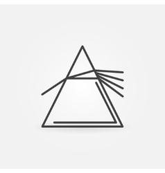 Dispersive prism icon vector