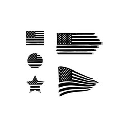 Distressed american flags vector