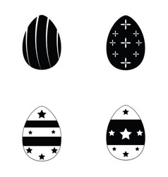 easter eggs icons set vector image