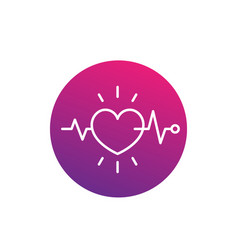 ecg electrocardiography heart diagnostics icon vector image