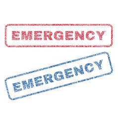 Emergency textile stamps vector