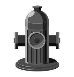 Fire hydrant icon gray monochrome style vector