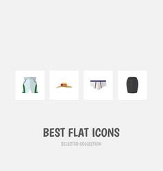 Flat icon dress set of underclothes stylish vector