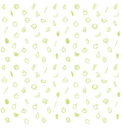 Fruit and vegetable seamless pattern background vector