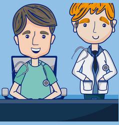 Funny doctors cartoon vector
