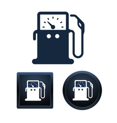 gas pump icons isolated vector image