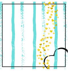 gold glitter confetti with dots vector image