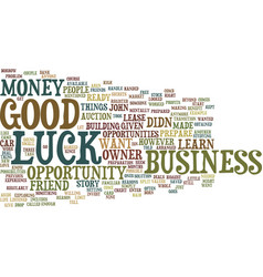 Good luck text background word cloud concept vector
