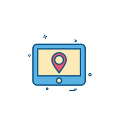 Gps tab location map travel direction icon design vector