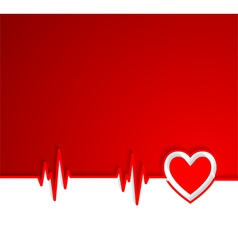 Heart beat cardiogram with heart shape vector image