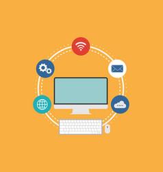 information internet technology logo vector image