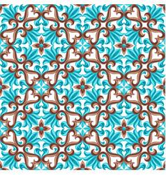 Italian ceramic tile seamless pattern vector