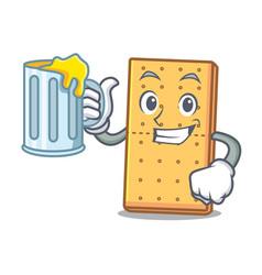 Juice graham cookies mascot cartoon vector