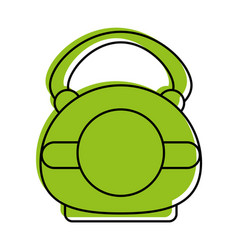 Kettlebell weightlifitng icon image vector