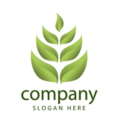 Logo forest vegetation management vector