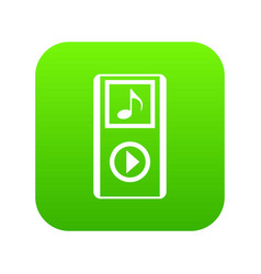 mini mp3 portable player icon digital green vector image