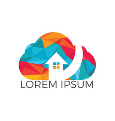 modern cloud home design vector image