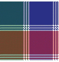 Modern mosaic plaid pixel seamless pattern vector