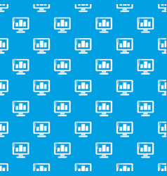 monitor pattern seamless blue vector image