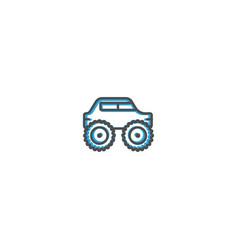 monster truck icon design transportation icon vector image