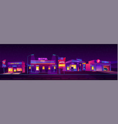 night motel and service accommodation for tourists vector image