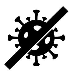 No flu virus - icon vector
