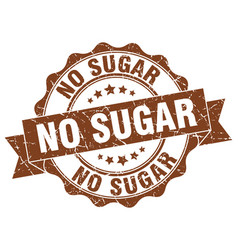 No sugar stamp sign seal vector