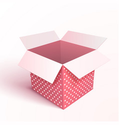 Open gift box isolated vector