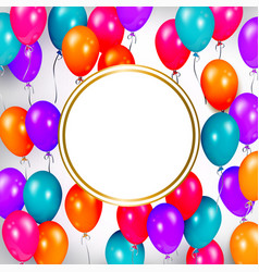 party banner with balloons and space for text vector image