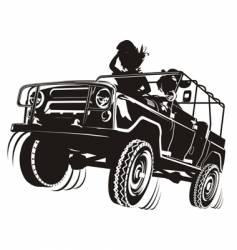 Russian jeep silhouette vector