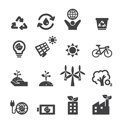 Save the earth icons vector
